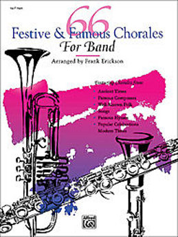 66 Festive & Famous Chorales for-Band