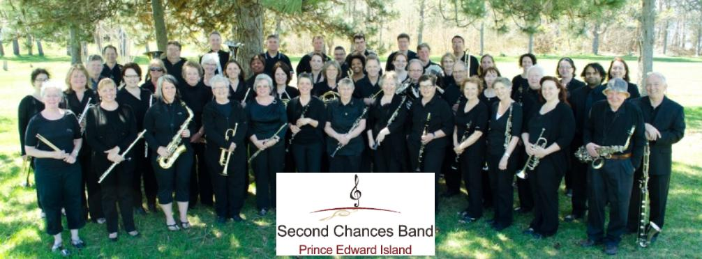Second Chances Community Band PEI - group shot w logo