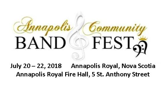 Festival - 2018 Annapolis Community Band Festival @ Annapolis Royal Fire Hall | Annapolis Royal | Nova Scotia | Canada